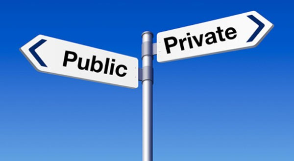 Public of private street sign
