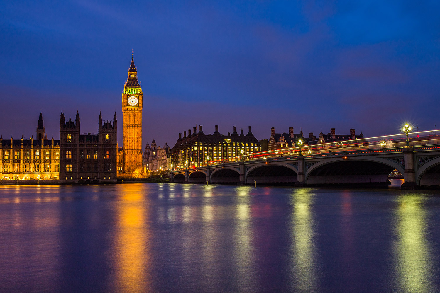 View of the Houses of Parliament, London