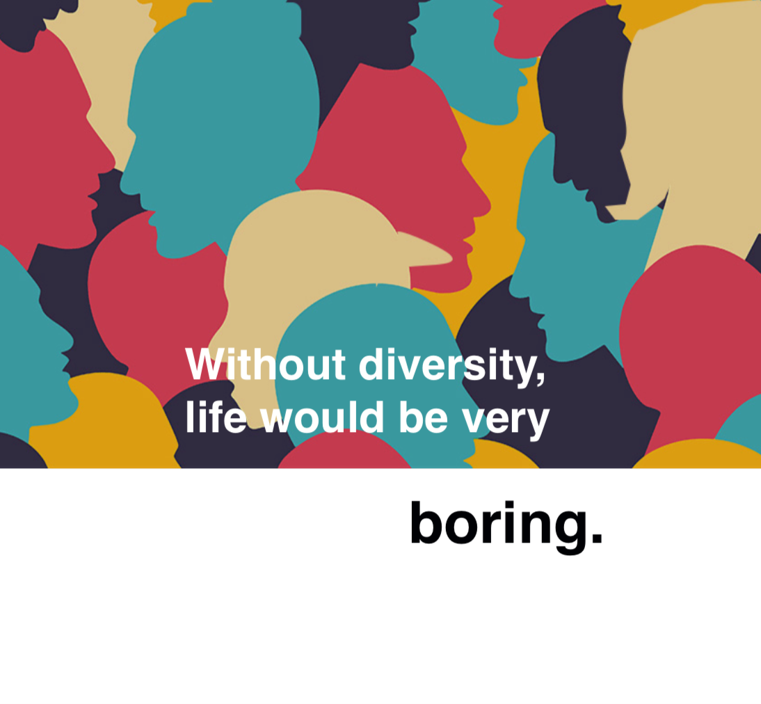 Without diversity, life would be very boring