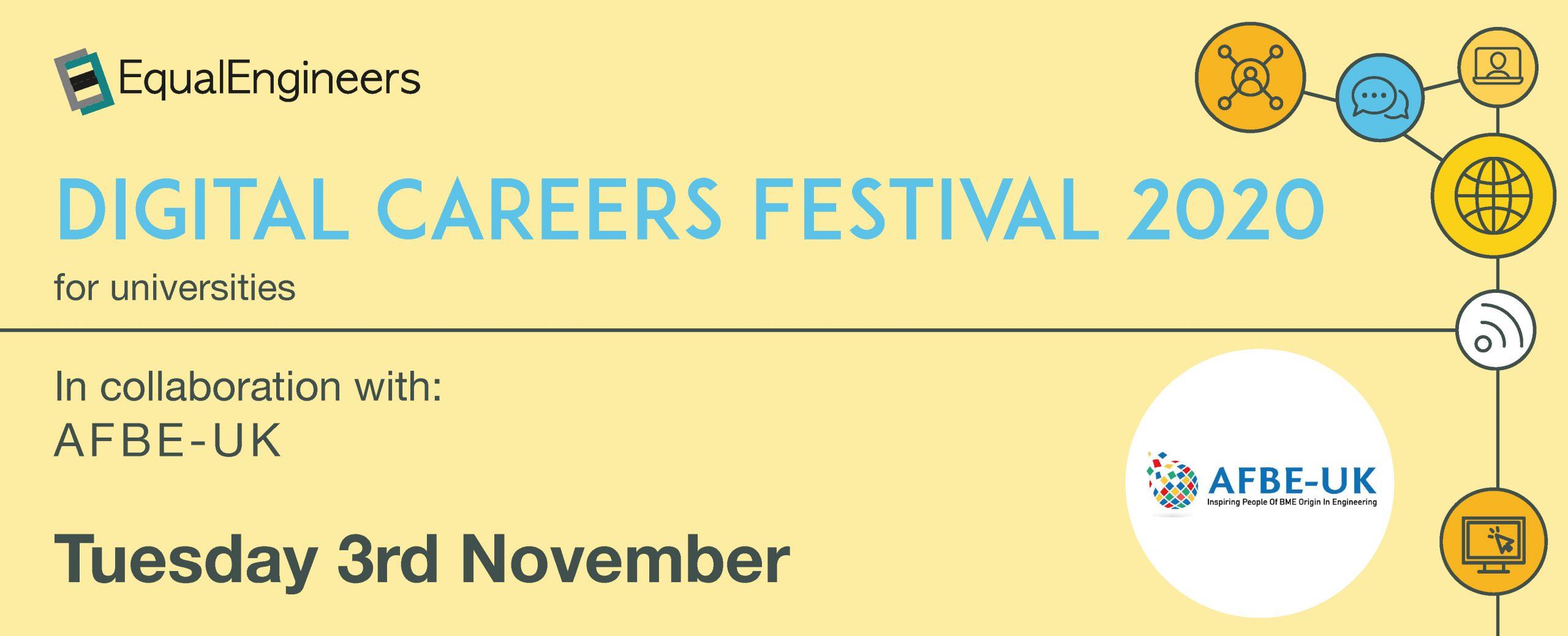 Digital Careers Festival for Universities - 3rd November